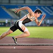En löpare som startar