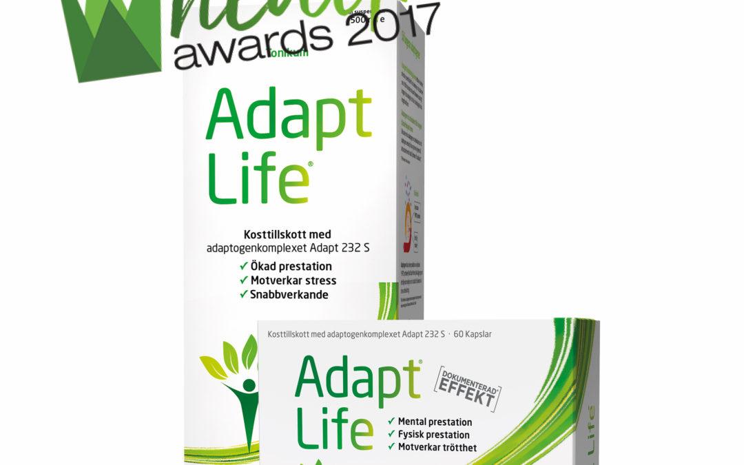 Adapt Life är nominerad till Årets energiboost