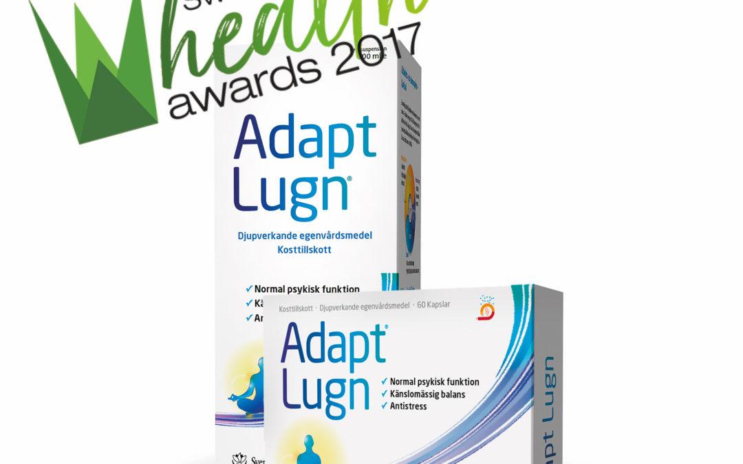 Adapt Lugn är nominerad till Årets antistressprodukt