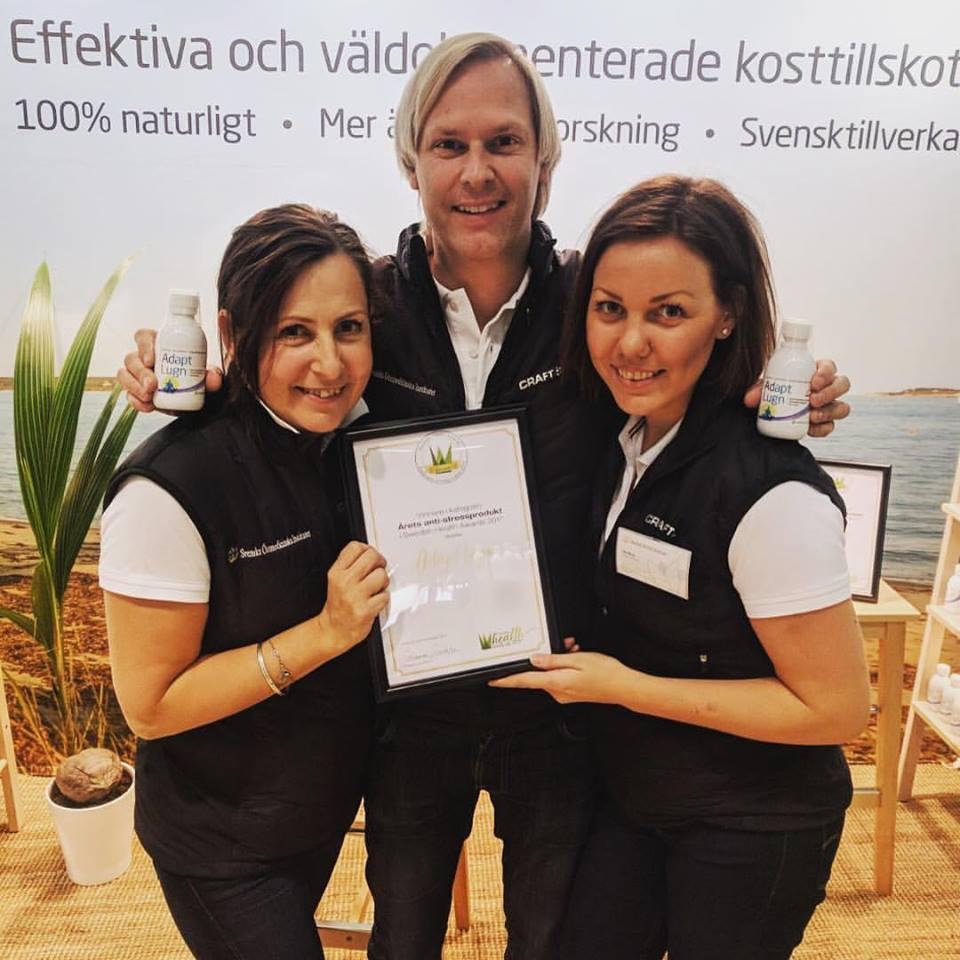 Adapt Lugn vann priset som Årets antistressprodukt